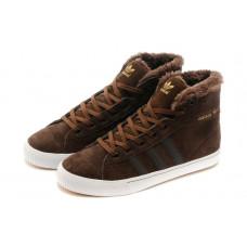 Зимние Adidas Aditennis Hilux коричневые
